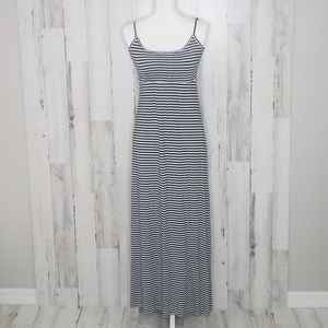 Calvin Klein Striped Sleeveless Maxi Dress Sz 2